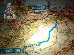 Dakar 2006 Stage 3 Map - Nador to Er Rachidia