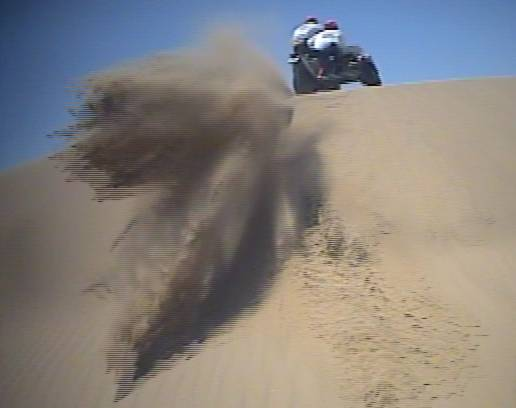 Dakar Sidecar - Video of sand dunes action