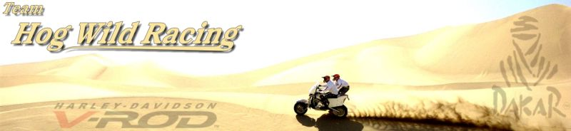 Hog Wild Racing (USA) aiming for the Lisbon - Dakar Rallye 2007 / 2008 with Harley V-rod sidecar